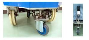 Gbr 5. Konstruksi caster yang fleksibel dan aktif